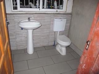 All plumbing hidden.
